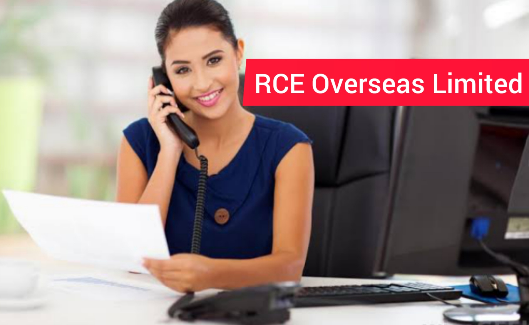 Female Admin Assistantat RCE Overseas Limited