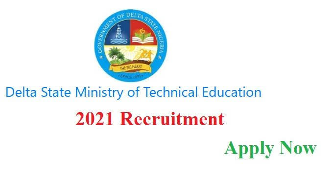 Teaching and Non-teaching Vacancies at Delta State Ministry of Technical Education