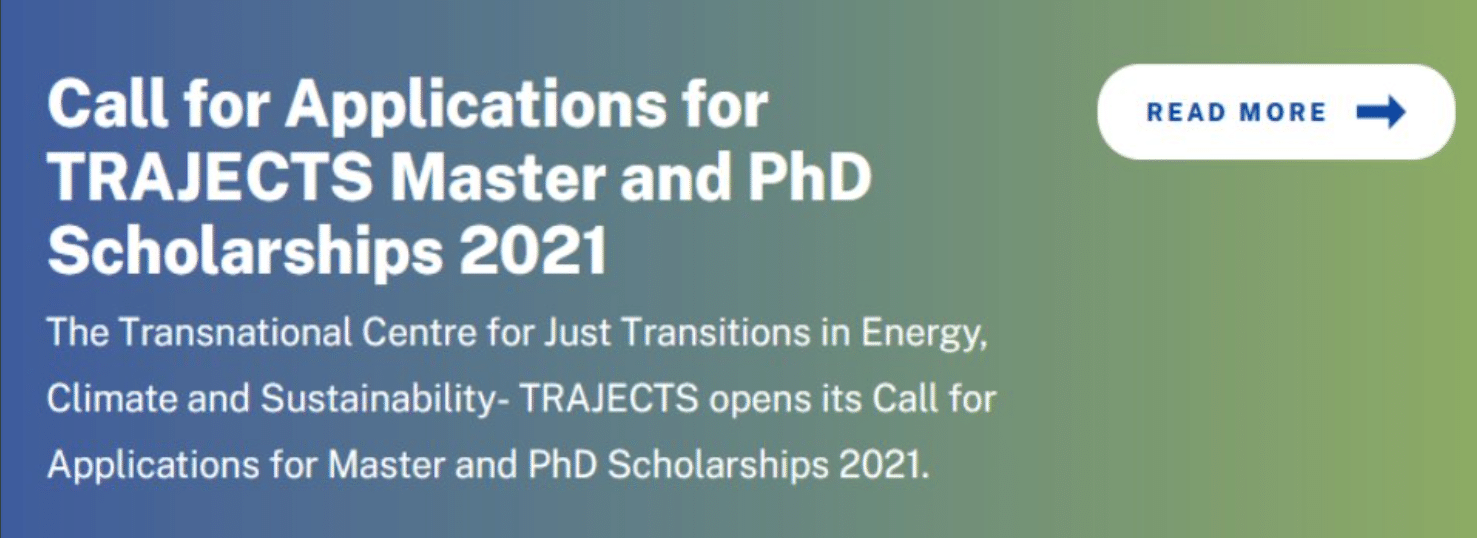 TRAJECTS Scholarships for Masters and PhD Students 2021/2022